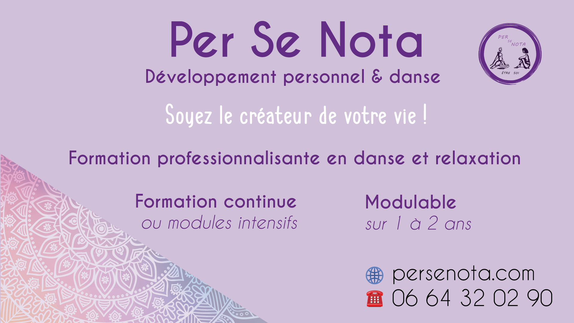 Formation continue danse et relaxation